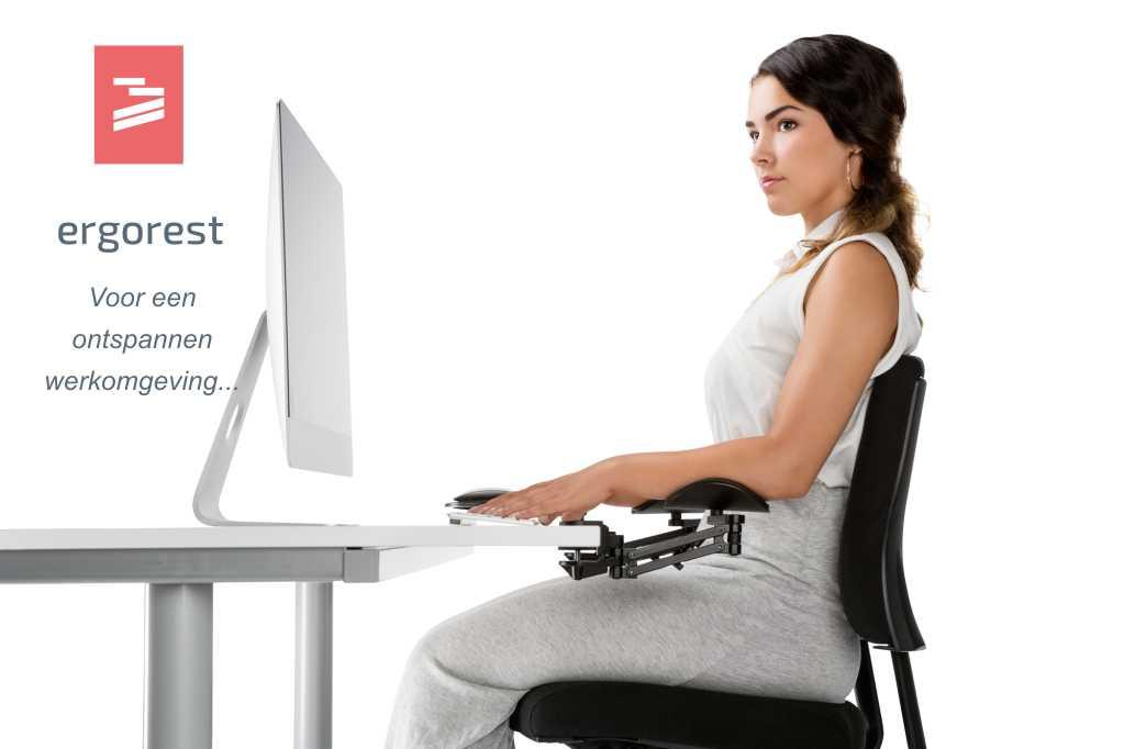Ergonomische armsteunen voor uw bureau.